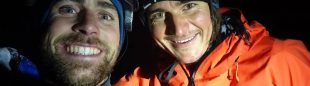 Vittorio Messini y Simon Gietl, en la cima del Niederer Prijakt
