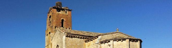 Santa Cruz de la Zarza (entre Ribas de Campos y Monzón de Campos). Ruta del románico en el Canal de Castilla.