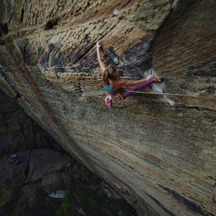 Margo Hayes en Red River Gorge