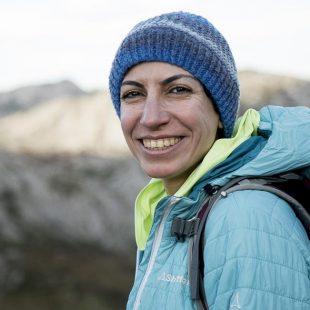 La alpinista iraní Parvaneh Kazemi (diciembre 2018)