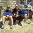 Simone Moro y Anatoli Bukréyev durante la expedición al Annapurna de 1997 en la que desaparecería Anatoli