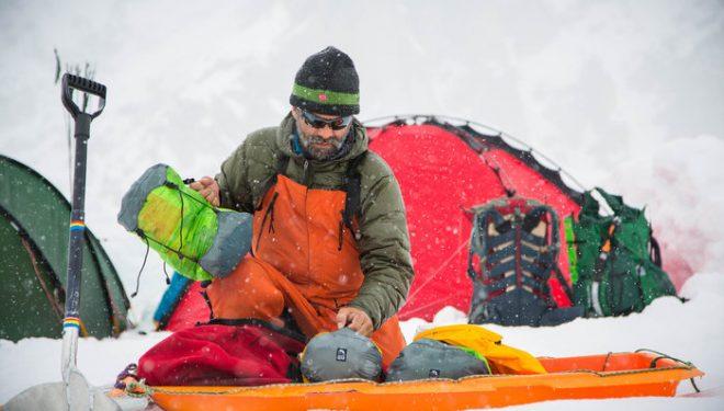 Lonnie Dupre en el campo base del Mt. Hunter