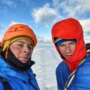 Fabian Buhl y Luka Lindic en 'Sau hladno!' a la Cima Tosa