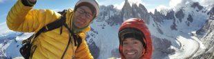"""Los hermanos Pou en """"HAIZEA"""" 7b/+/60º/550 m a la """"Aguja de la S"""" en el cordal del Fitz Roy (Patagonia)"""