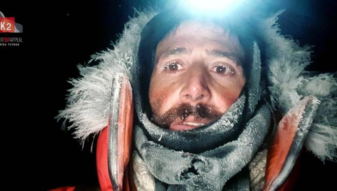 Álex Txikon en el K2 invernal 2019