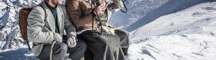 Martin Reber, Ines Papert y Luka Lindic en la recreación de la primera invernal al Mont Blanc (1876)