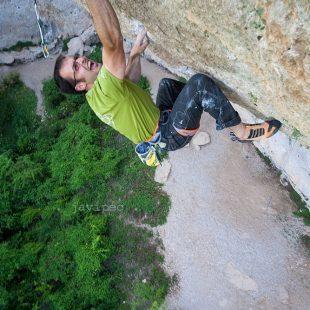 José Luis Palao Primo en El intento 8c+/9a (Cuenca)  (Javipec)