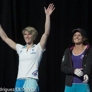 La francesa Melanie Sandoz ganadora de la competición de bloque femenino