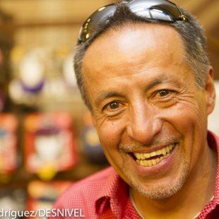 Iván Vallejo en la Librería Desnivel en Junio 2013.  ()