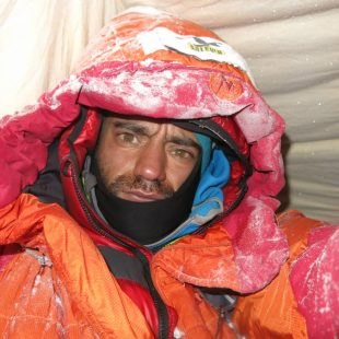 Daniele Nardi durante su expedición invernal al Nanga Parbat 2012-13  (Col. D. Nardi)