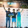 Podio masculino de la Copa del Mundo de Búlder 2016: 1º Tomoa Narasaki