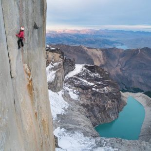 Intento de liberación de Riders on the storm (Torre Central del Paine) de Mayan Smith-Gobat y Brette Harrington  (Foto: Drew Smith)