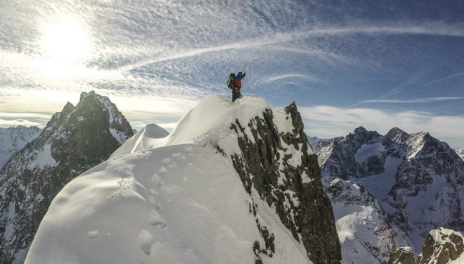 Matthias Auer en una de las cimas del Kaunergrat  (Foto: Hansjörg Auer)